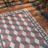 custom cut flagstone carpet patio mosaic in minneapolis